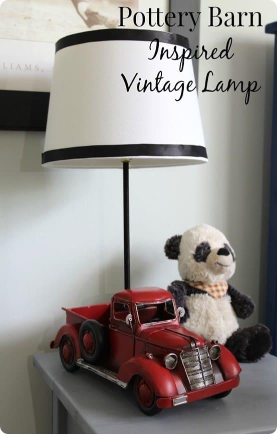 Pottery Barn Inspired Truck Lamp