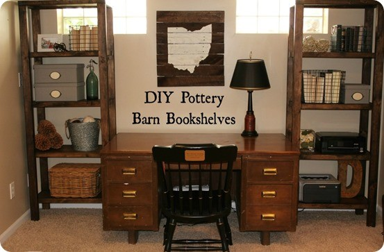 Pottery Barn Knock Off DIY Bookshelves