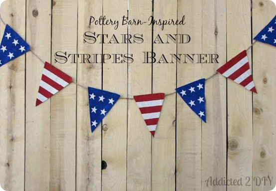 Pottery Barn Knock Off Fourth of July Banner