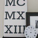 DIY Roman Numeral Wall Art