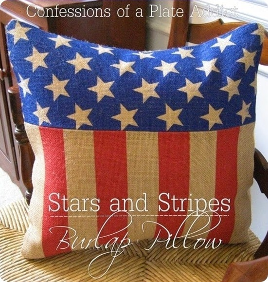 Pottery Barn Knock Off Stars and Stripes Pillow