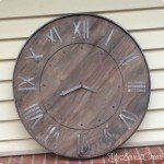 Rustic Wood and Metal Clock