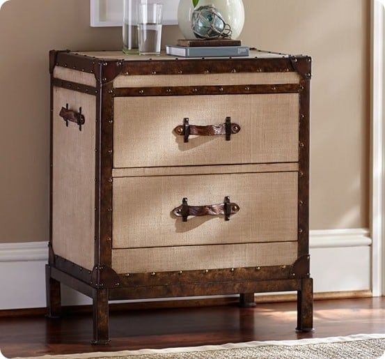 Trunk Style Nightstand Makeover