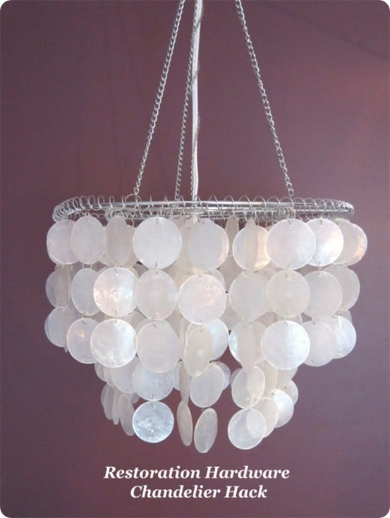 Restoration Hardware Knock Off Capiz Shell Chandelier