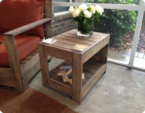 Restoration Hardware Knock Off Outdoor Side Table