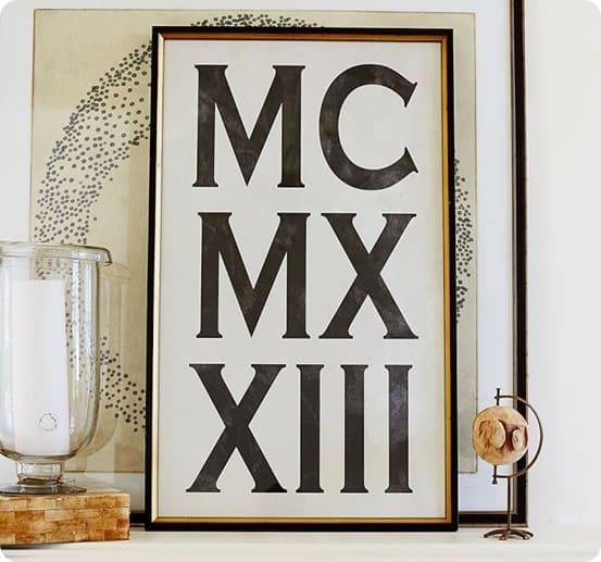 Roman Numeral Framed Print