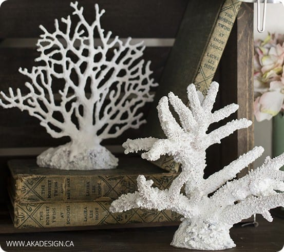 Spray Painted Coral {Pottery Barn knock off}