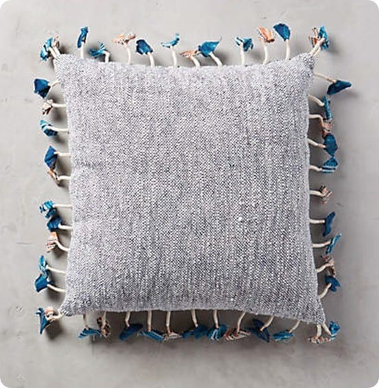 Tasseled Jacare Pillow from Anthropologie