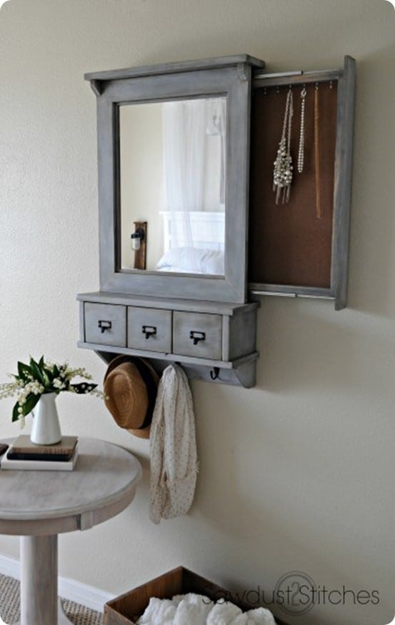 Wall Mirror With Hidden Storage