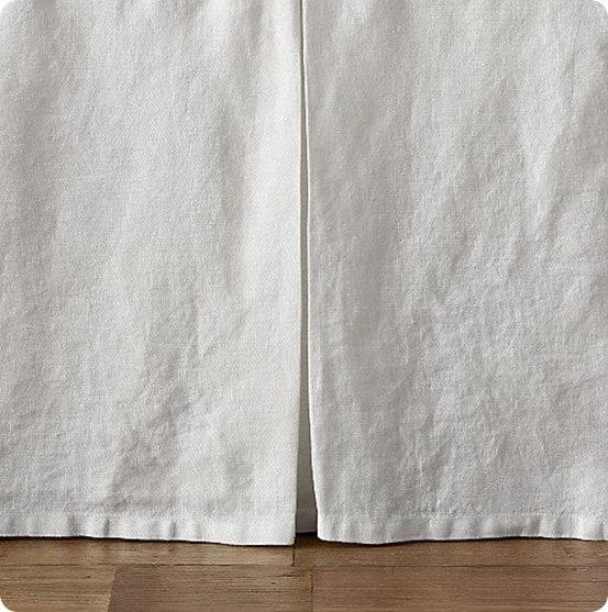 Washed Organic Linen Crib Skirt from Restoration Hardware