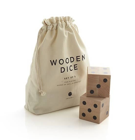 Wooden Yard Dice Game