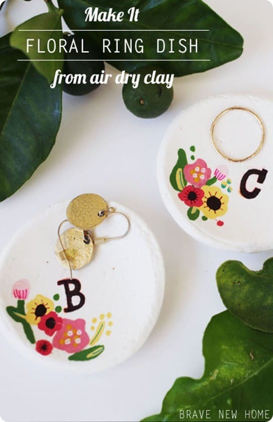 Anthropologie Knock Off Floral Ring Dish