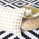 Glitzy Gold Dot Pillows