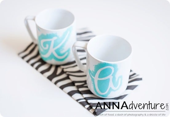 Anthropologie Knock Off Monogram Mug