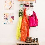 DIY Coat Rack with Baskets
