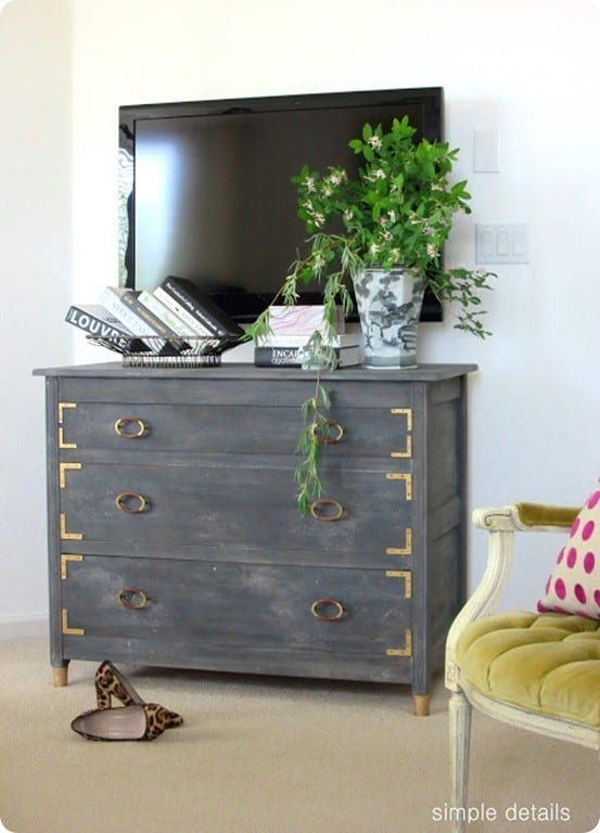 Anthropologie Knock Off Weathered Grey Dresser