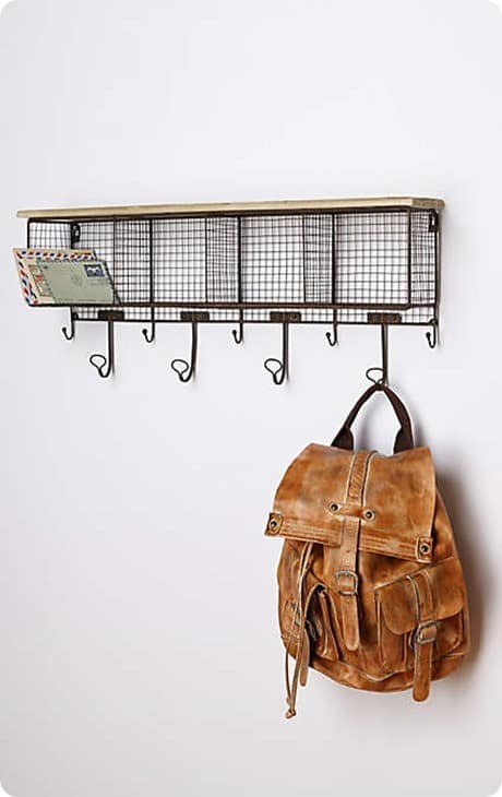Anthropologie Wire Wall Cubby