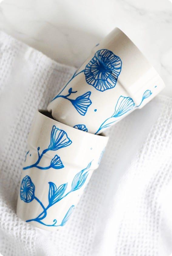 DIY Crafts ~ Anthropologie Knock Off Floral Mug