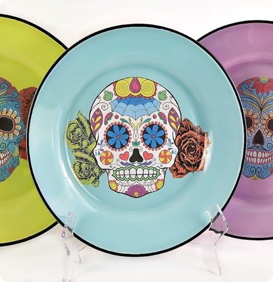 DIY Crafts ~ Sugar Skull Dinner Plates