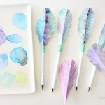 Watercolor Feather Pens