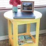 Round Yellow Side Table