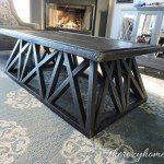 DIY Trestle Coffee Table