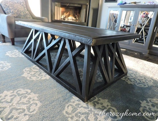 Diy Trestle Coffee Table Knockoffdecor Com