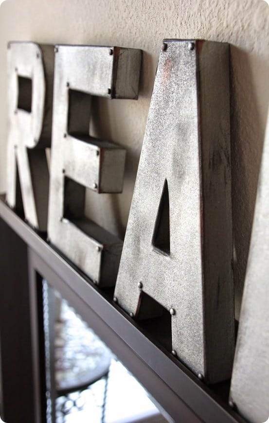 DIY Home Decor ~ Anthropologie Knock Off Zinc Letters