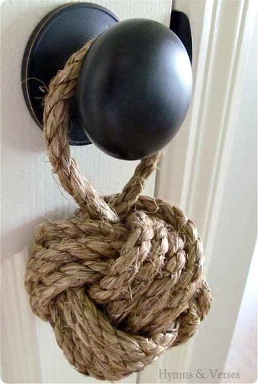 DIY Home Decor ~ Nautical Rope Knot Doorstop
