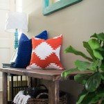 Kilim Design Painted Pillow