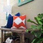 Kilim Design Painted Pillow
