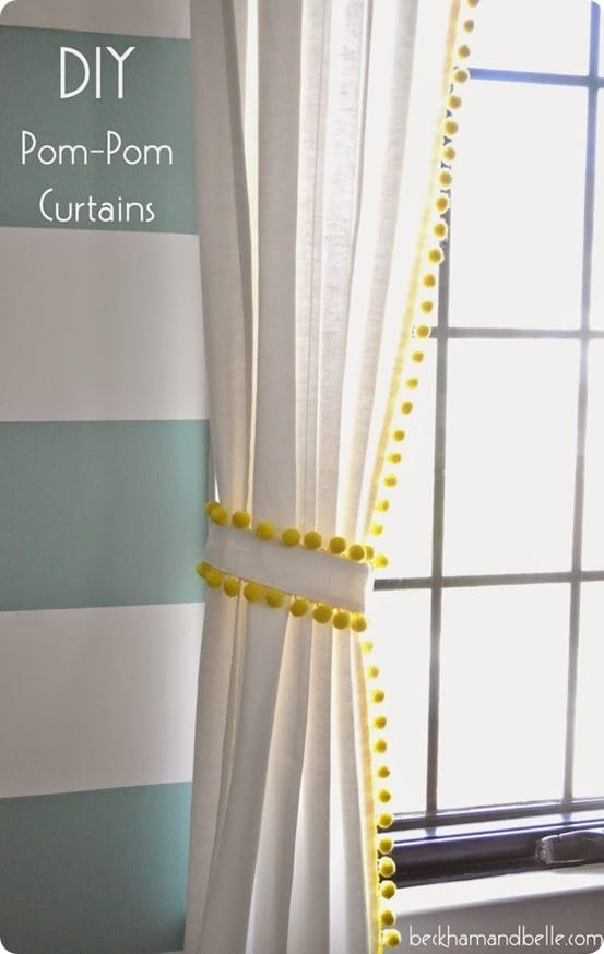 Pom Pom Trim Curtains Knockoffdecor Com