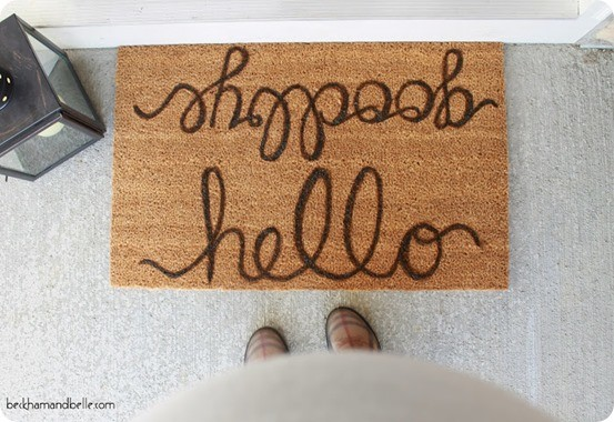 DIY Home Decor ~ Pottery Barn Knock Off Doormat