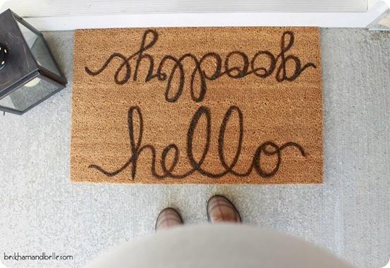 DIY Home Decor ~ Pottery Barn Knock Off Doormat