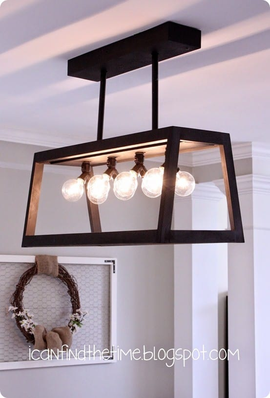 DIY Home Decor ~ Restoration Hardware Knock Off Chandelier