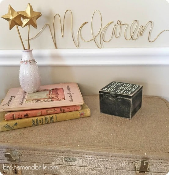 DIY Wall Decor ~ Wire Name Wall Art