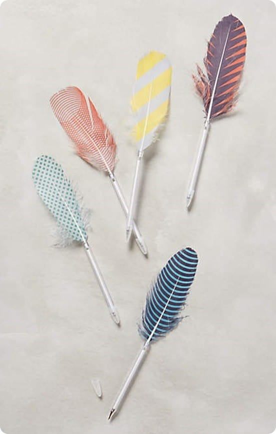Feather Pen from Anthropologie
