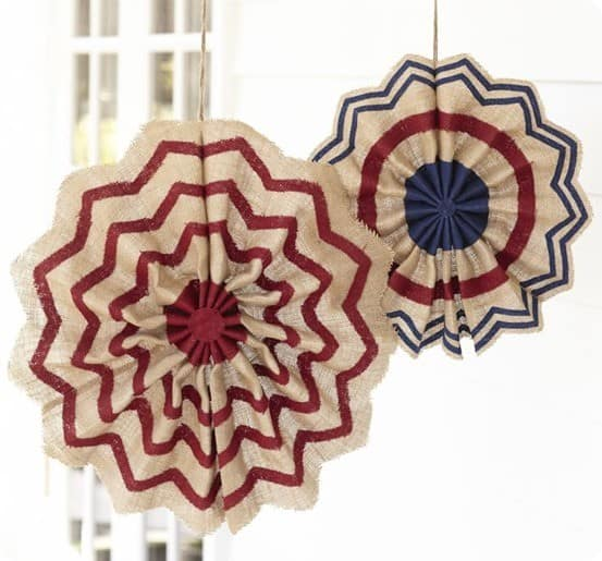 Fourth of July Burlap Stars from Pottery Barn