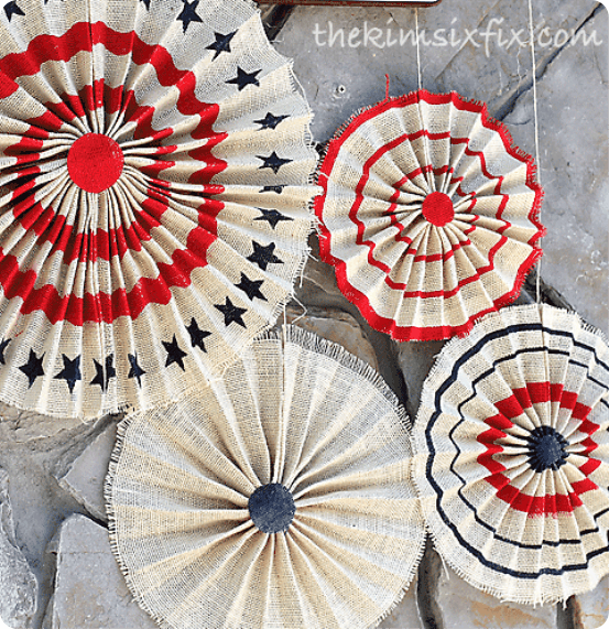 Fourth of July Crafts ~ Pottery Barn Knock Off Burlap Stars