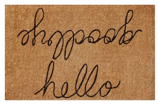 Hello Goodbye Doormat from Pottery Barn