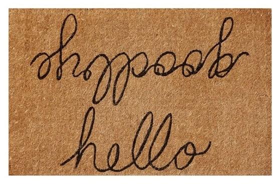 Hello Goodbye Doormat from Pottery Barn