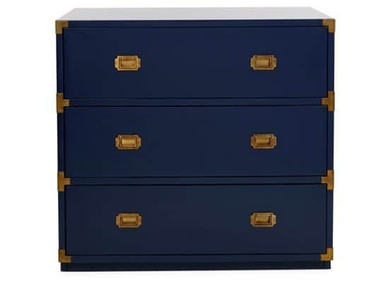 Kane Campaign Chest in Navy and Brass from One Kings Lane