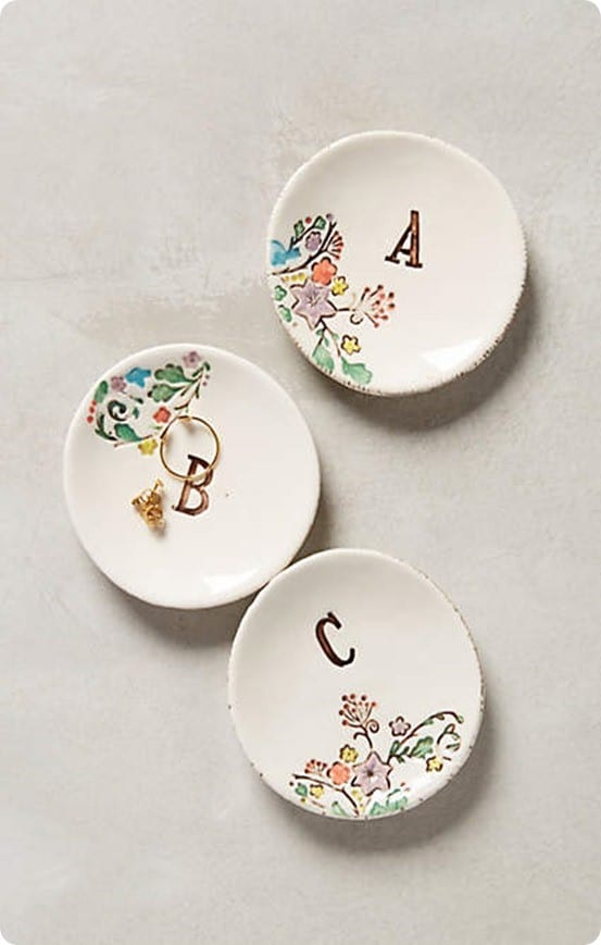 Monogrammed Garland Ring Dish from Anthropologie