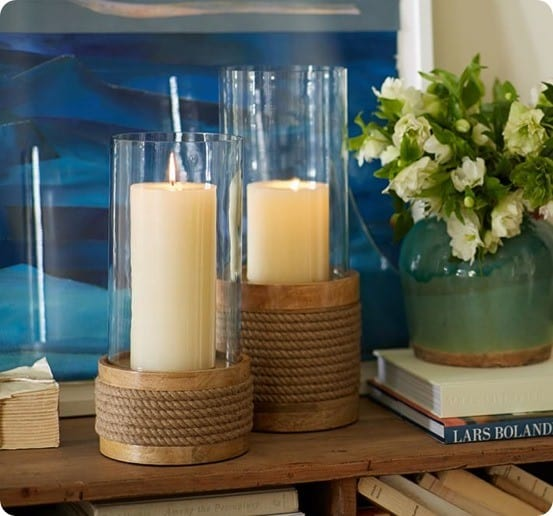 Pier Rope Hurricanes from Pottery Barn