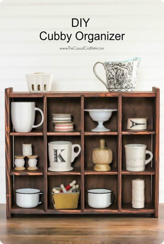 Pottery Barn Knock Off Cubby Shelf