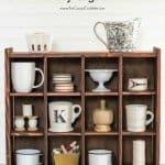 DIY Cubby Organizer Shelf