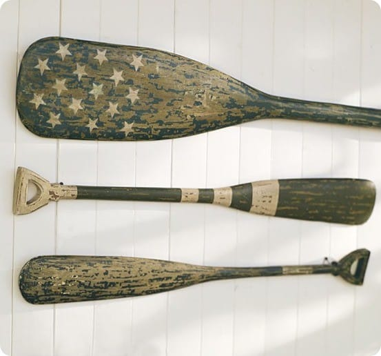 Pottery Barn Weathered Painted Oars