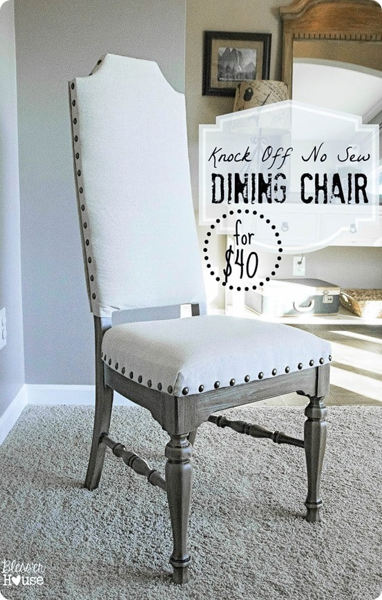 Upholstered Dining Room Chair Makeover Knockoffdecor Com