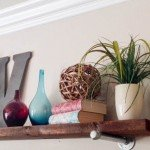 Wood and Metal Wall Shelf