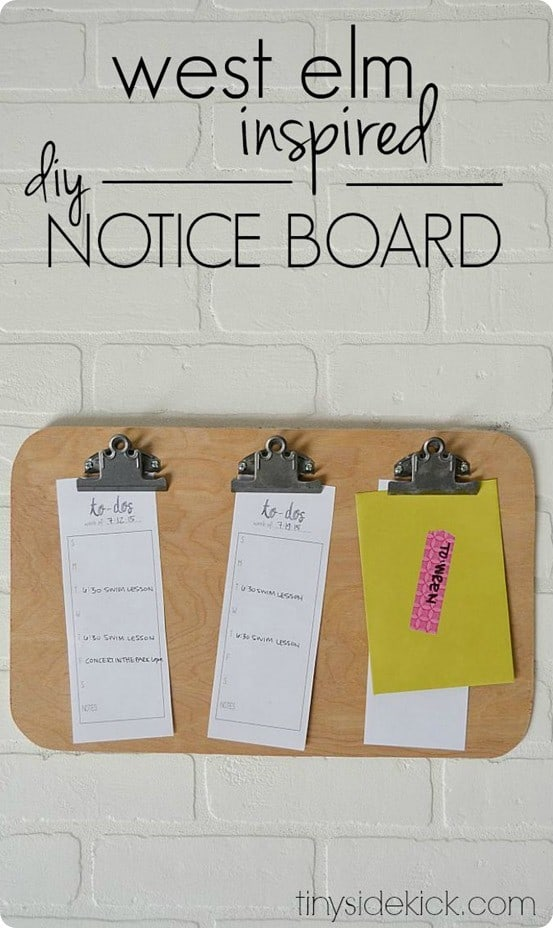 West Elm Inspired Notice Board